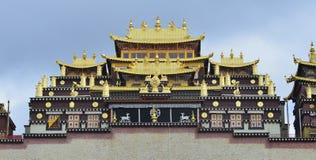 Gedan Songzanlin西藏修道院,香格里拉 库存照片