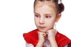 Gedanke des kleinen Mädchens Lizenzfreie Stockfotografie