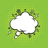 Gedanken-Blase im Knall Art Comics Style Komische Sprache-Blase Auch im corel abgehobenen Betrag stock abbildung