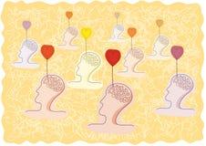 Gedanken der Liebe stock abbildung