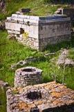 Gedeelte Ruïnes van Troy royalty-vrije stock fotografie