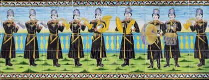 Gedeelte van oude mozaïekmuur Royalty-vrije Stock Afbeelding