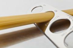Gedeelte van Spaghetti voor twee Royalty-vrije Stock Foto's