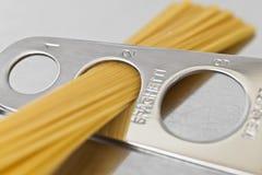 Gedeelte van Spaghetti voor twee Royalty-vrije Stock Afbeeldingen