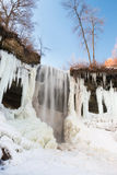 Gedeeltelijk bevroren waterval, Minnesota Royalty-vrije Stock Fotografie