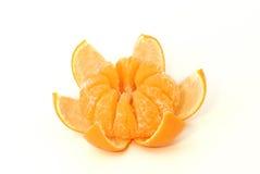Gedeeltelijk gepelde mandarijnen Royalty-vrije Stock Afbeelding
