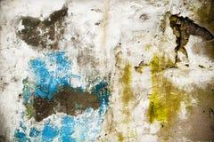 Gedeeltelijk geschilderd van Grunge muur royalty-vrije stock afbeeldingen