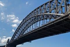 Gedeeltelijke mening van Sydney Harbour Bridge in Sydney, Australië Stock Fotografie