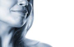 Gedeeltelijke vrouw gezicht-12 stock foto