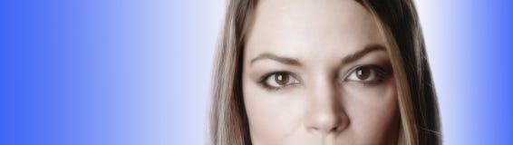 Gedeeltelijke vrouw gezicht-3 Royalty-vrije Stock Foto