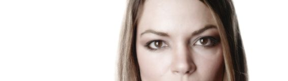 Gedeeltelijke vrouw gezicht-5 stock afbeeldingen