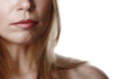 Gedeeltelijke vrouw gezicht-8 stock afbeeldingen