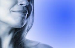 Gedeeltelijke vrouw gezicht-9 stock foto's
