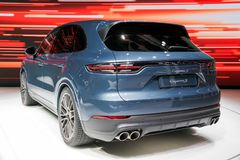 2018 gedemonstreerd Porsche Cayenne S Royalty-vrije Stock Afbeelding