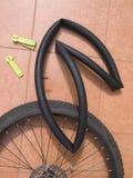 Gedemonteerd fietswiel met luchtkamer Royalty-vrije Stock Afbeelding