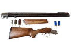 Gedemonteerd jachtgeweer stock foto's
