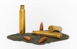 Gedemonteerd m-16 kogels Stock Foto's