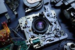 Gedemonteerde compacte camera royalty-vrije stock afbeeldingen