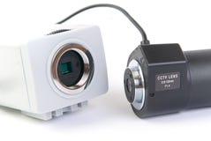 Gedemonteerde de camera van kabeltelevisie Stock Fotografie