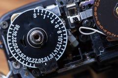 Gedemonteerde filmcamera Royalty-vrije Stock Afbeeldingen