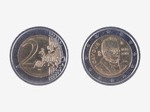Gedenk2 EUR Münze Camillo Bensos Stockfoto