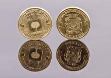 Gedenk- Münzen Bank von Russland von der Stadt von Militär-Glo Stockbilder