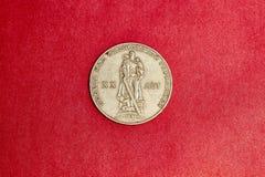 Gedenk-UDSSR-Münze ein Rubel weihte 20. Jahrestag des Sieges im Großen patriotischen Krieg 1941-1945 ein Stockfotos