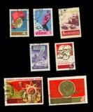 Gedenkbriefmarken der UDSSR stock abbildung