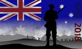 Gedenken des Jahrhunderts des großen Krieges, ANZAC Stockfotografie