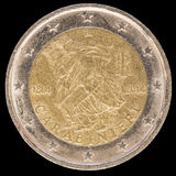 Gedenkmünze des Euros zwei gab durch Italien im Jahre 2014 und commemor heraus Stockbild