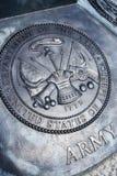Gedenkplakette der AMERIKANISCHEN Armee Lizenzfreie Stockfotos
