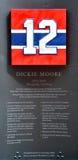 Gedenkplatte 12 von Dickie Moore Stockbild