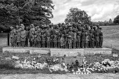 Gedenkteken aan de Kinderenslachtoffers van de Oorlog, Lidice - Tsjechische repu Stock Fotografie