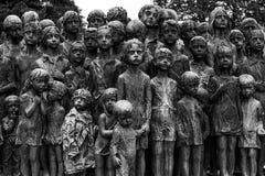 Gedenkteken aan de Kinderenslachtoffers van de Oorlog, Lidice - Tsjechische repu Stock Afbeelding