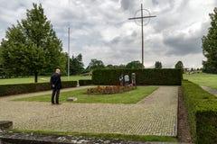 Gedenkteken aan de Kinderenslachtoffers van de Oorlog, Lidice - Tsjechische repu Stock Foto