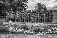 Gedenkteken aan de Kinderenslachtoffers van de Oorlog, Lidice - Tsjechische repu Royalty-vrije Stock Foto's