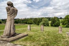 Gedenkteken aan de Kinderenslachtoffers van de Oorlog, Lidice - Tsjechische repu Royalty-vrije Stock Afbeelding