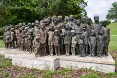 Gedenkteken aan de Kinderenslachtoffers van de Oorlog, Lidice - Tsjechische repu Royalty-vrije Stock Fotografie