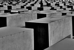 Gedenkteken aan de moorde Joden van Europa in Berlijn Stock Afbeeldingen
