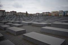 Gedenkteken aan de moorde Joden van Europa in Berlijn royalty-vrije stock fotografie