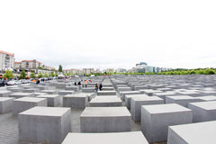 Gedenkteken aan de Moorde Joden van Europa, Berlijn, Duitsland Stock Fotografie