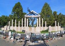 Gedenkteken aan de Slachtoffers van Duits beroep in Boedapest Stock Afbeelding