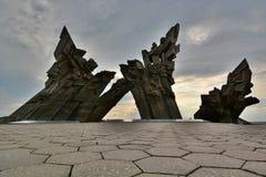 Gedenkteken aan de slachtoffers van Nazisme Negende Fort kaunas litouwen royalty-vrije stock afbeeldingen