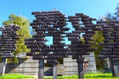 Gedenkteken aan de slachtoffers van Nazisme van Wereldoorlog II in de USSR stock afbeelding