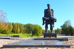 Gedenkteken aan de slachtoffers van Nazisme van Wereldoorlog II in de USSR stock afbeeldingen