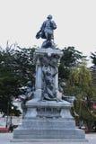 Gedenkteken aan Ferdinand Magellan in Punta Arenas, Chili stock afbeelding