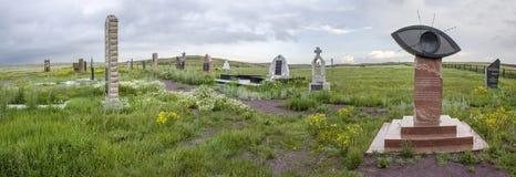 Gedenkteken aan gevangenen van KarLang in Spassky Stock Fotografie