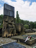 Gedenkteken aan hen die in Auschwitz stierven Stock Afbeeldingen