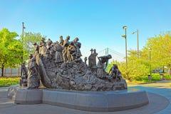 Gedenkteken aan Ierse hongersnood in Penn Landing in Philadelphia stock fotografie