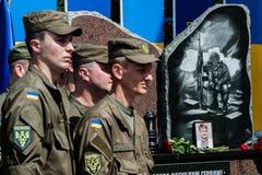 Gedenkteken aan militairen van de Nationale Wacht stock afbeelding